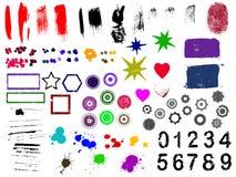 90个要素grunge 免版税库存图片