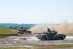 90辆演示t坦克 免版税库存照片