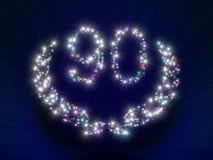 90 звезд номера годовщины Стоковая Фотография RF