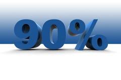 90% Stock Image