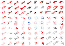 90 arrows set. Design elements. Stock Photos