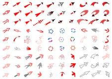 90 arrows set. Design elements. 90 arrows. Design elements set. Vector art vector illustration
