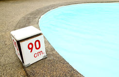 90 cm. water depth sign Stock Photos