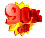 90 dyskontowy z procentu ceny Fotografia Stock