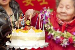 90 jaar oude vrouwen Royalty-vrije Stock Foto
