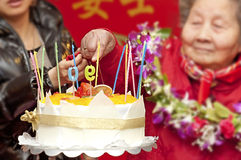 90 Jahre alte Frau Lizenzfreies Stockfoto