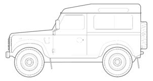 90 Land Rover stock illustrationer