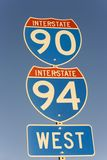 90 międzystanowy 94 znak Obraz Stock