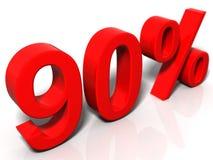 90 percenten Stock Illustratie
