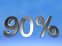 90 pour cent Photographie stock libre de droits