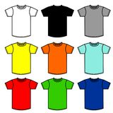 90 shirts. Nine T-Shirts of different colors Royalty Free Stock Image