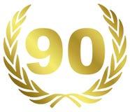 90 verjaardag vector illustratie