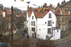 9000, Robin Hoods Bay, East Yorkshire Coast,  April 2006 Royalty Free Stock Photo