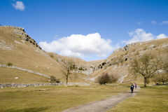 9006, cicatrice de Goredale, vallées de Yorkshire, avril 2006 Images stock