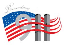 911 вспоминают Стоковое Изображение RF