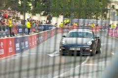 911 2011年carrera porshe赛跑的街道verva 库存图片