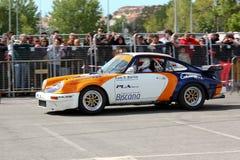 911 2012 stadsleiria porsche slalom Arkivbilder
