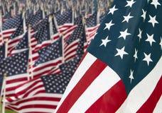 911 bandierina del memoriale degli Stati Uniti di giorno Immagine Stock