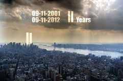 911 commemoration Stock Photography