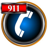 911 emergency. Icon on a white background Stock Images