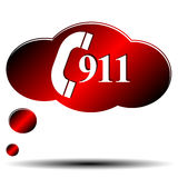 911 emergency. Icon on a white background Stock Photos