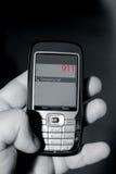911 Emergency Telephone Call. Image illustrating a 911 cellular emergency telephone call stock photos