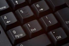911 en la pista del número del teclado Imagenes de archivo