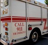 911 het Voertuig van de Reactie van de noodsituatie Stock Foto's