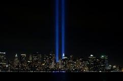 911 luces conmemorativas Foto de archivo