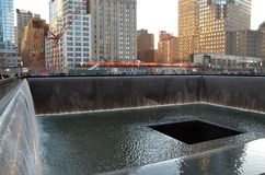 911 memorial, New York City Fotos de Stock Royalty Free