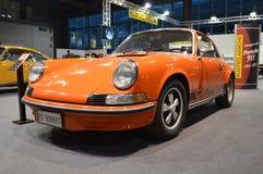 911 RS 2.7. An Orange Porsche 911 Carrera RS 2.7 at the Ruoteclassiche stand in the Milano Autoclassica exhibition. To celebrate the 50th of Porsche 911 the Stock Image