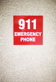 911 sign Royalty Free Stock Images