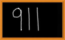 911 sulla lavagna Fotografie Stock