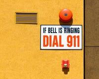 911 tarcza Obrazy Stock