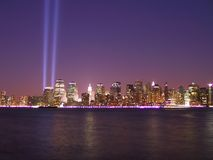 911 Tribute in Lights Royalty Free Stock Photography