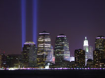 911 Tribute in Lights Stock Image