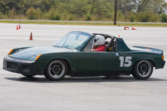 914 autocrossing porsche Arkivbild