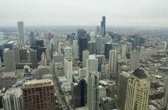 92 chicago i stadens centrum horisontalberättelser Royaltyfria Bilder