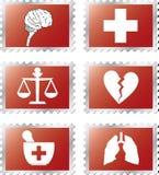 92b ustaleni medycyna znaczki Zdjęcie Stock