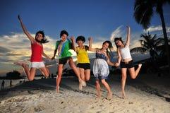 93 zabawa plażowa Fotografia Royalty Free