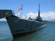 9331 USS Bowfin. The Pearl Harbor Avenger, USS Bowfin, rests quietly at Pearl Harbor Royalty Free Stock Image