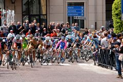 93ste d'Italia van de Giro (Reis van Italië dat) - cirkelt Stock Fotografie