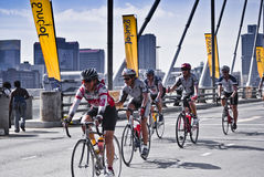 94.7 Cycle Challenge Riders On Mandela Bridge Royalty Free Stock Photo