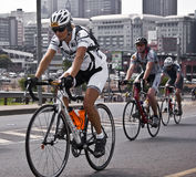 94.7 Cycle Challenge Riders On Mandela Bridge Stock Image