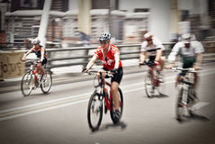 94.7 Cycle Challenge Riders On Mandela Bridge Stock Photo