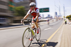 94.7 cycliste d'enjeu de cycle Image stock
