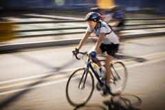 94.7 cycliste d'enjeu de cycle Photographie stock libre de droits