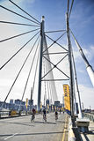 94.7 desafío del ciclo - sección del puente de Mandela Imagenes de archivo