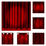 94 Red curtains Stock Photo