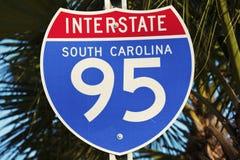 95 d'un état à un autre en Caroline du Sud Photos libres de droits